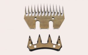 Comb and cutter set for rechargeable shearing handpiece